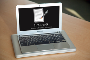 Chromebook with Dictanote