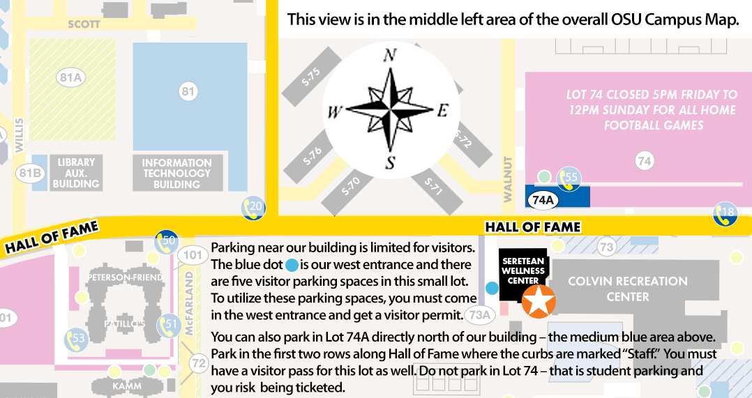 Parking areas around ABLE Tech offices