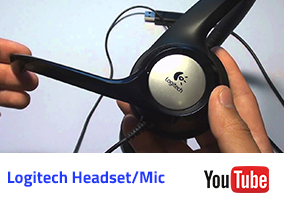 Logitech Headset-Mic Video