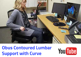 Obus Contoured Lumbar Support with Curved Back Video Thumbnail