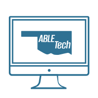 ABLE Tech logo on Monitor