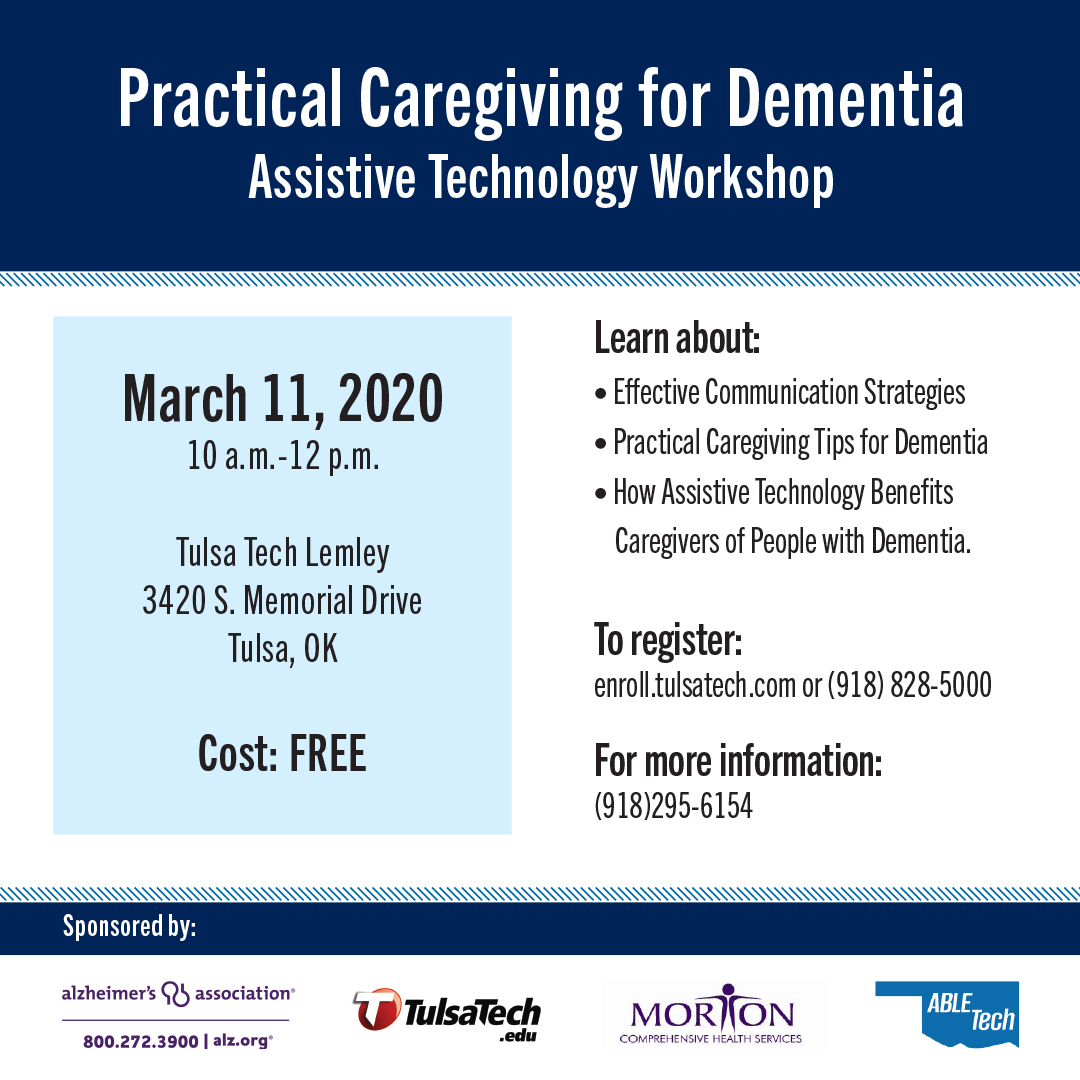 Practical Caregiving for Dementia Workshop March 11, 2020