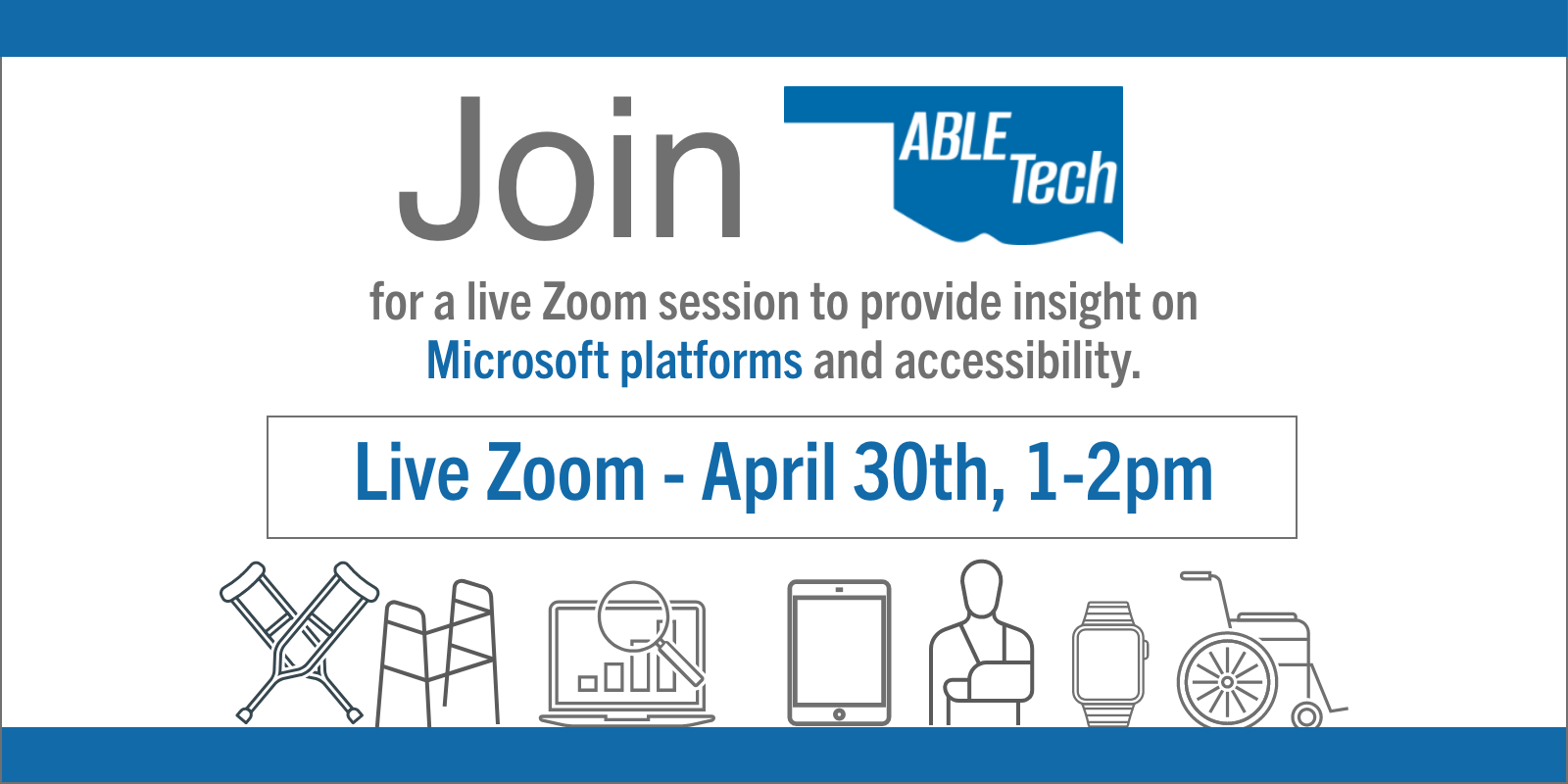 Live Zoom April 30th, 1-2pm