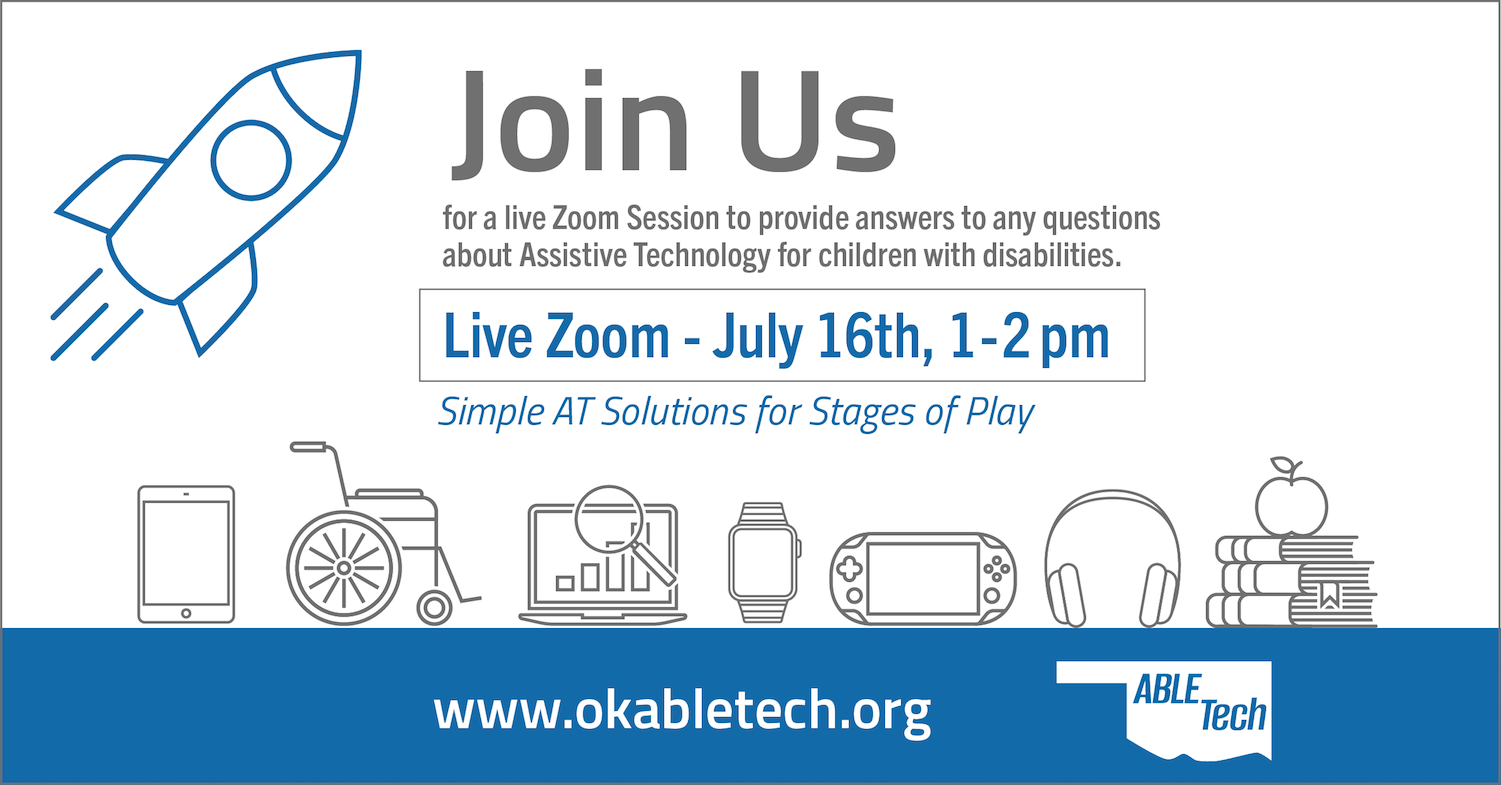 Tech Thursday with ABLE Tech: Simple AT Solutions for Play @ Zoom Online Meeting