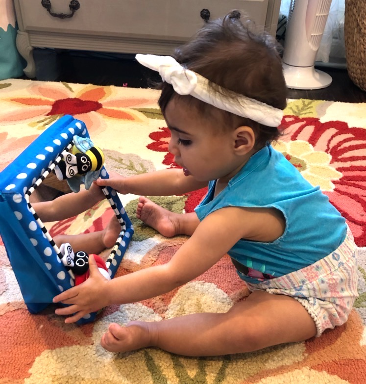 Olivia playing