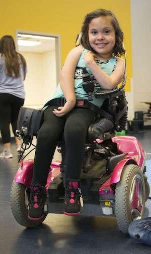 Navaeh in wheelchair