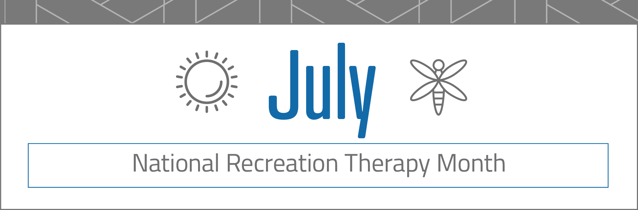 July monthly banner