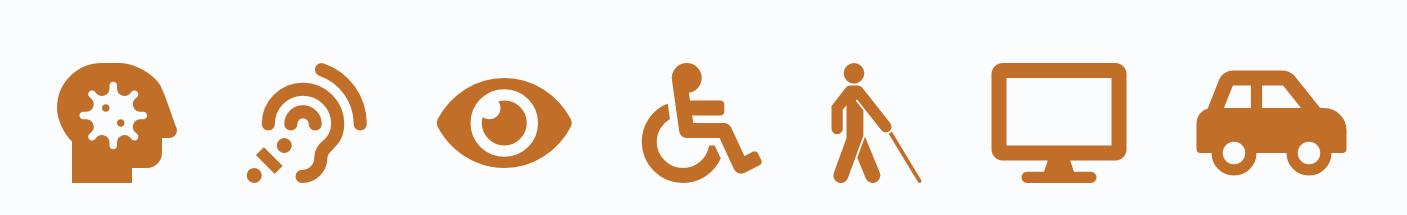 Disabilities - icons orange